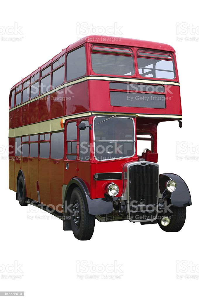 Red Double decker bus royalty-free stock photo