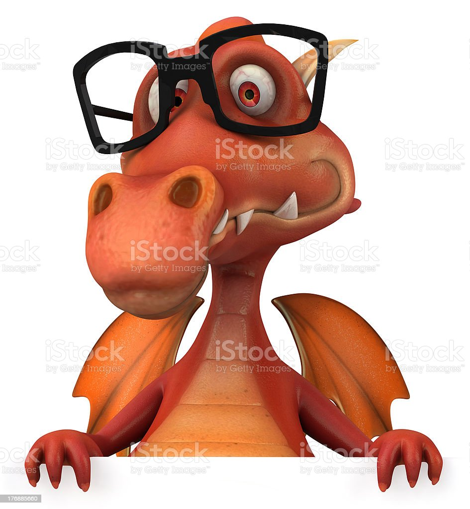 Red dragon royalty-free stock photo