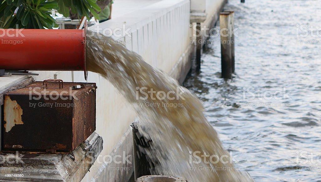 Red drainage stock photo