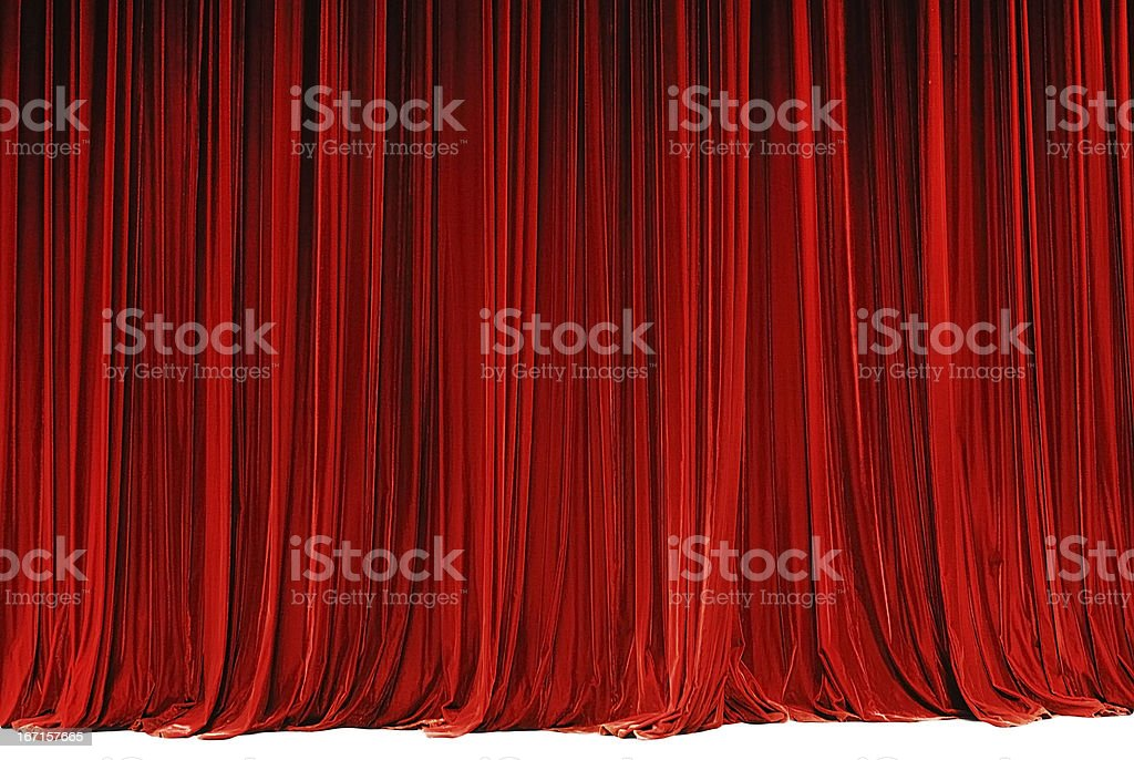 red drape stock photo