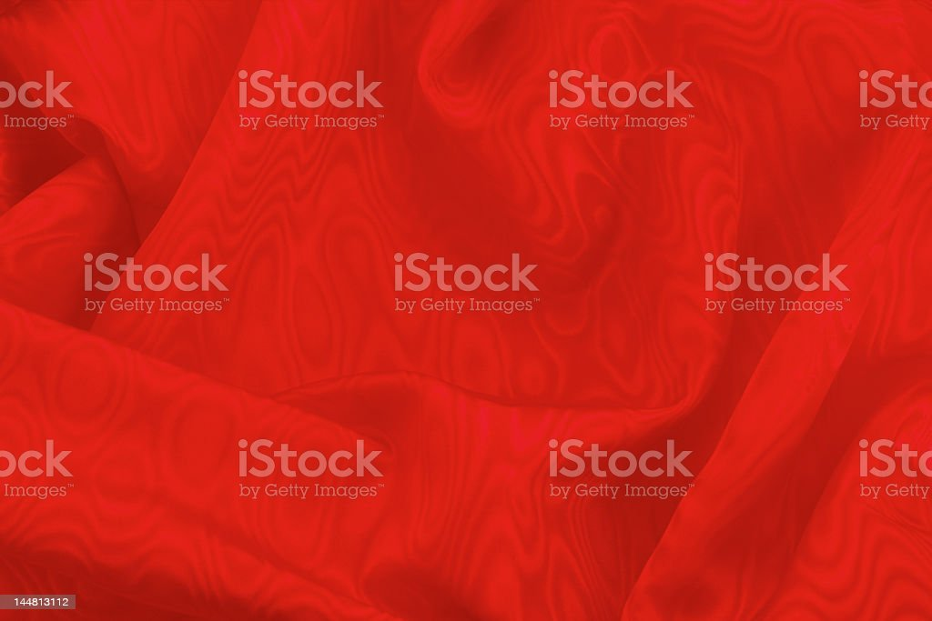 Red draped material royalty-free stock photo