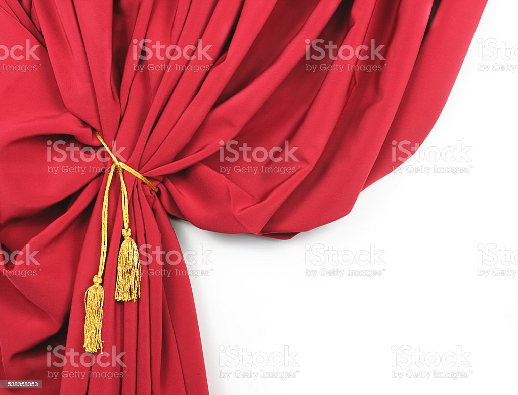 Red drapes stock photo