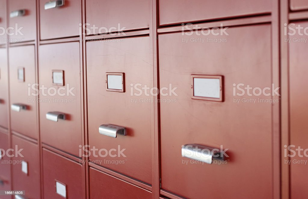 Red Drawers to Archive Documents royalty-free stock photo