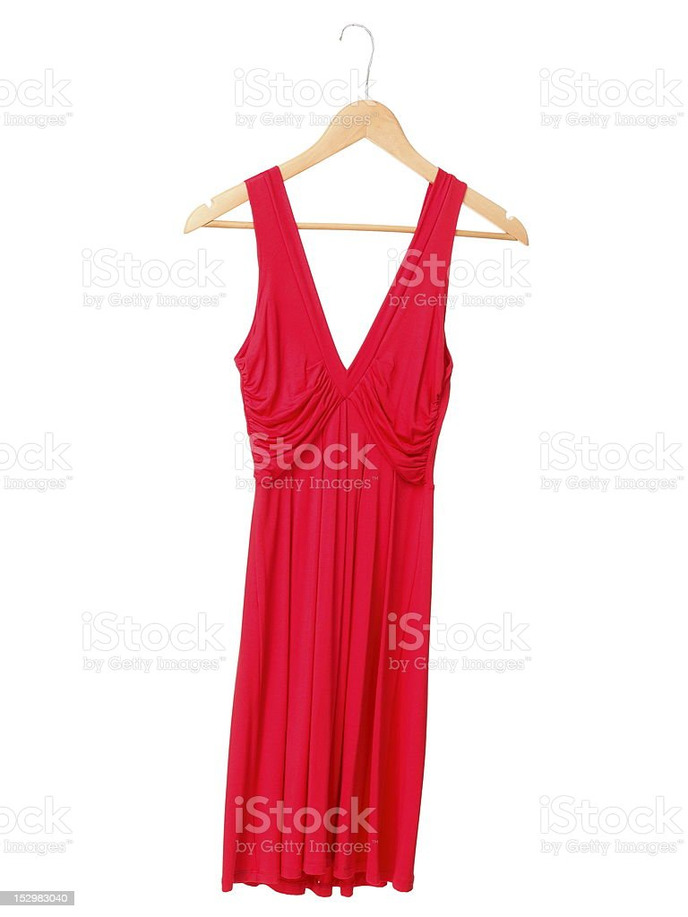 Red dress isolated on white stock photo