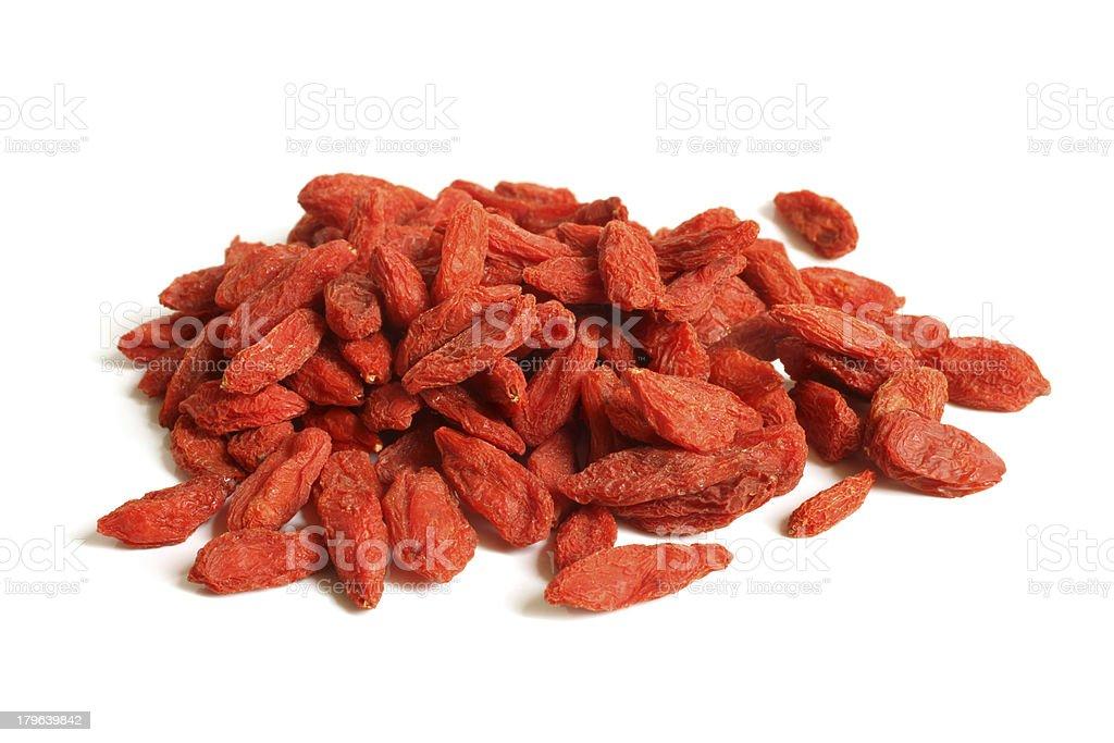 Red dried goji berries (Lycium Barbarum - Wolfberry) royalty-free stock photo