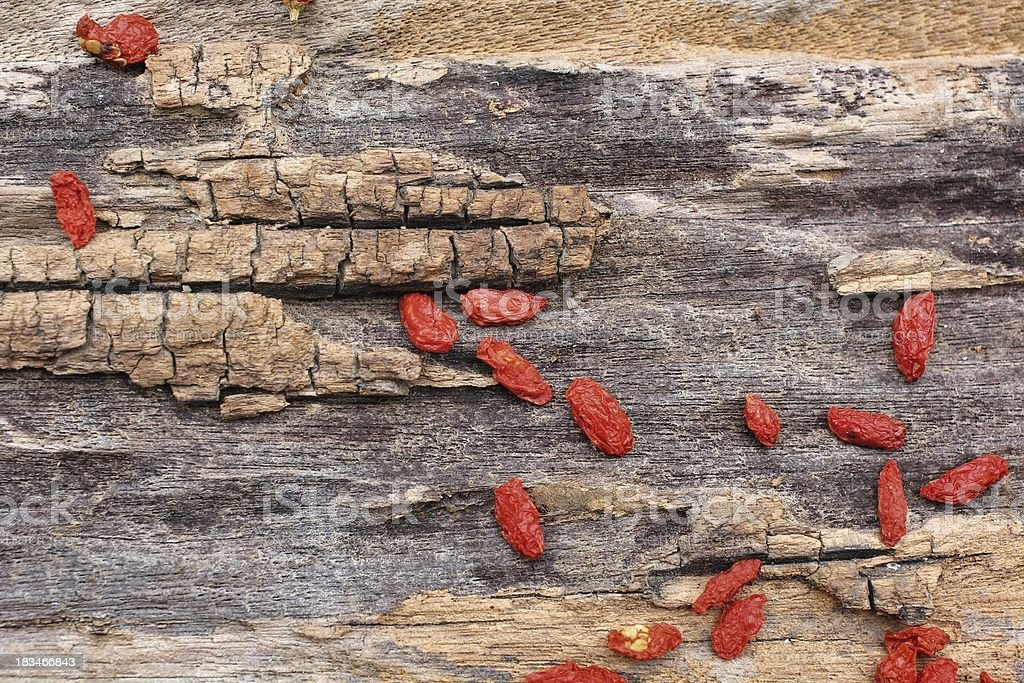 Red dried goji berries royalty-free stock photo