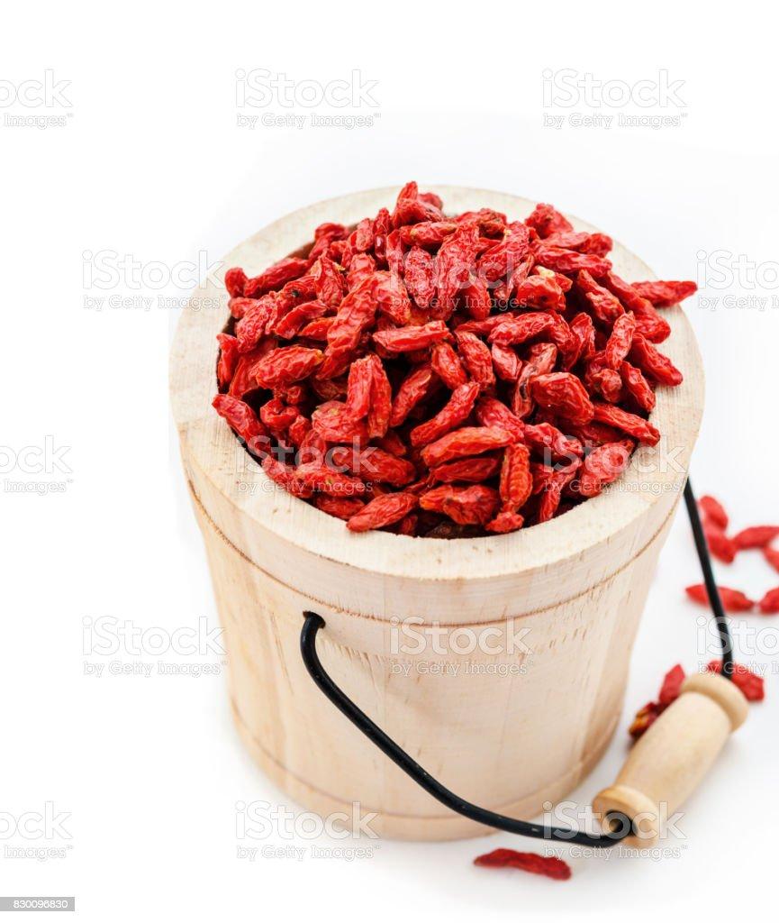 Red dried goji berries stock photo