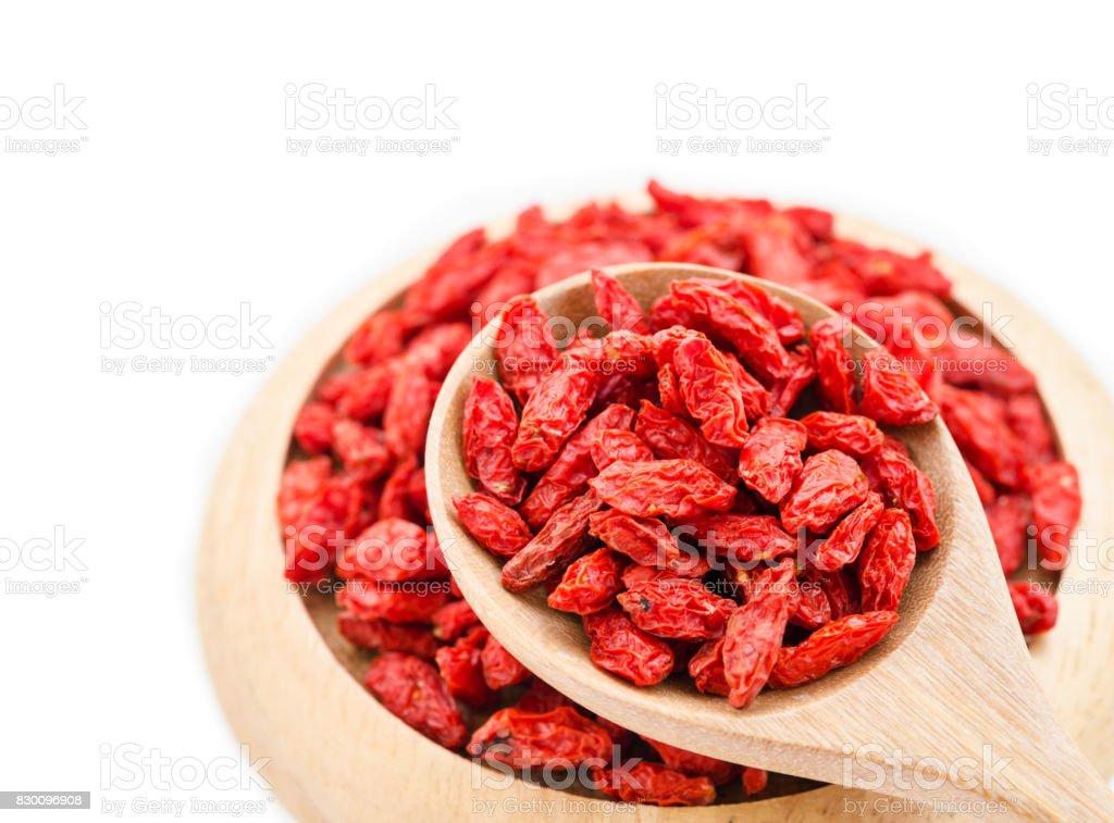 Red dried goji berries. stock photo