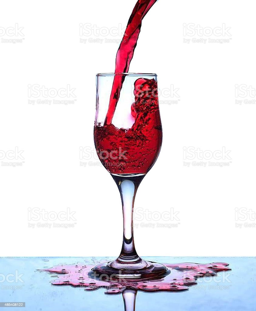 Red drink stock photo