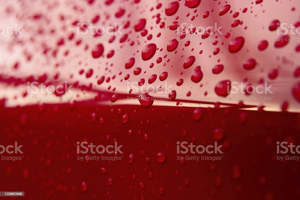 Red drops of water stock photo