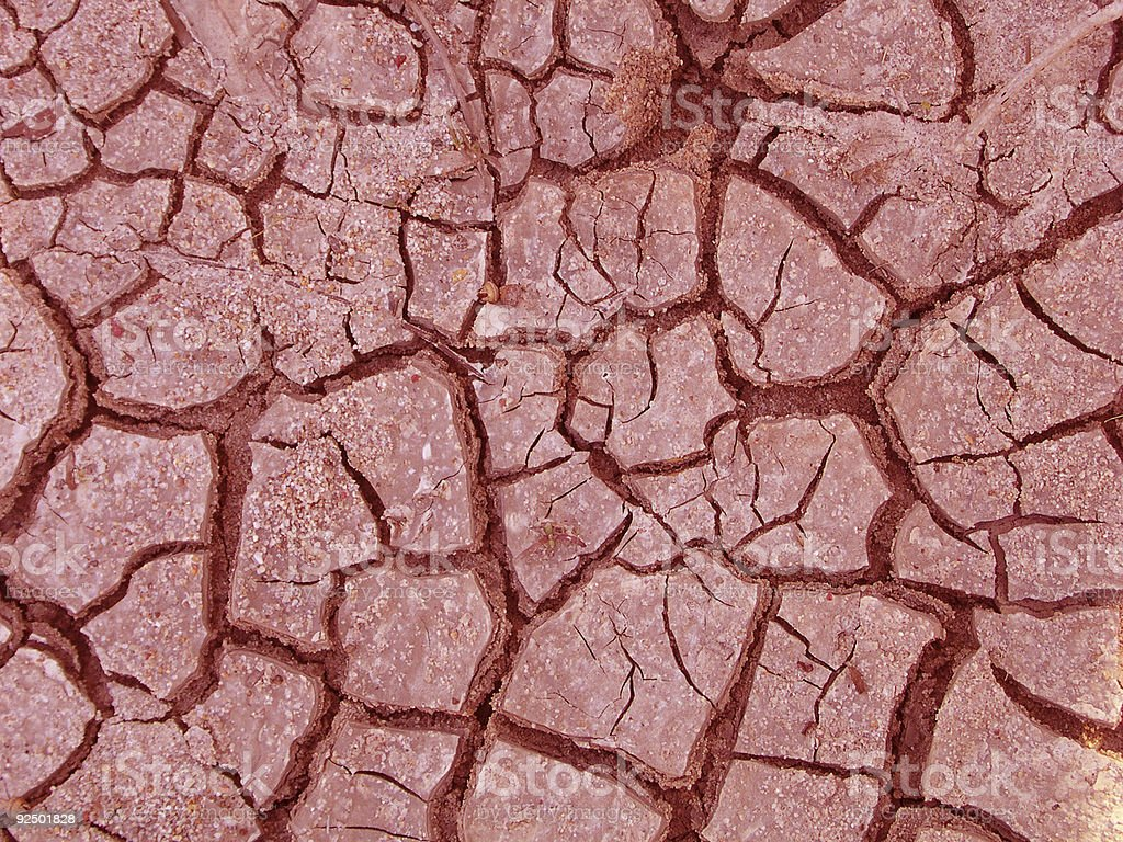 Red dry earth royalty-free stock photo