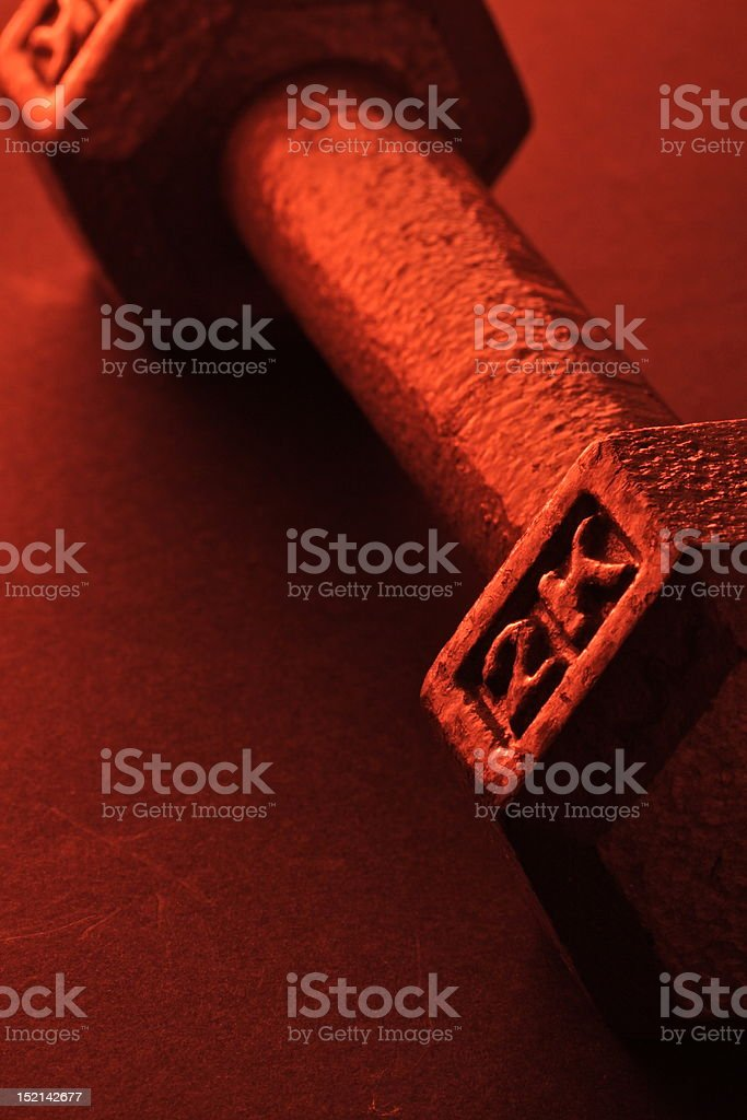 Red dumbbell stock photo