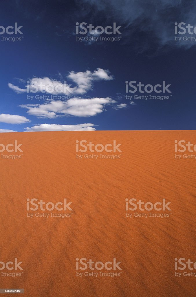 Red Dunes in Central Australia 3 royalty-free stock photo