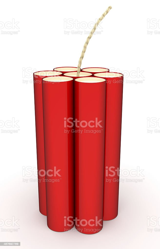 Red Dynamite isolated on a white stock photo