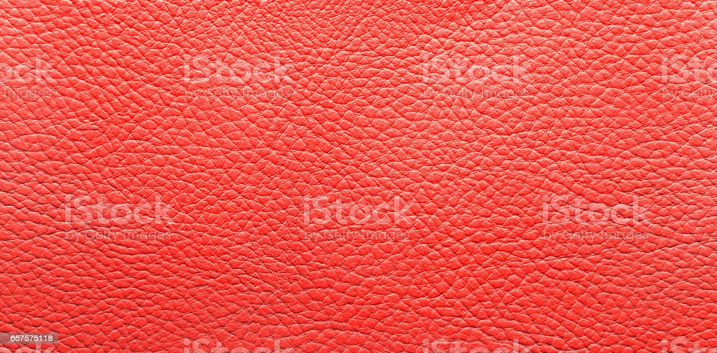 Red eco-leather background. stock photo