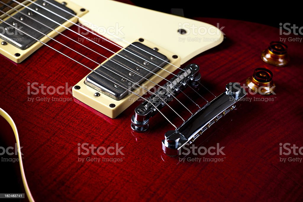 Red Electric Guitar royalty-free stock photo