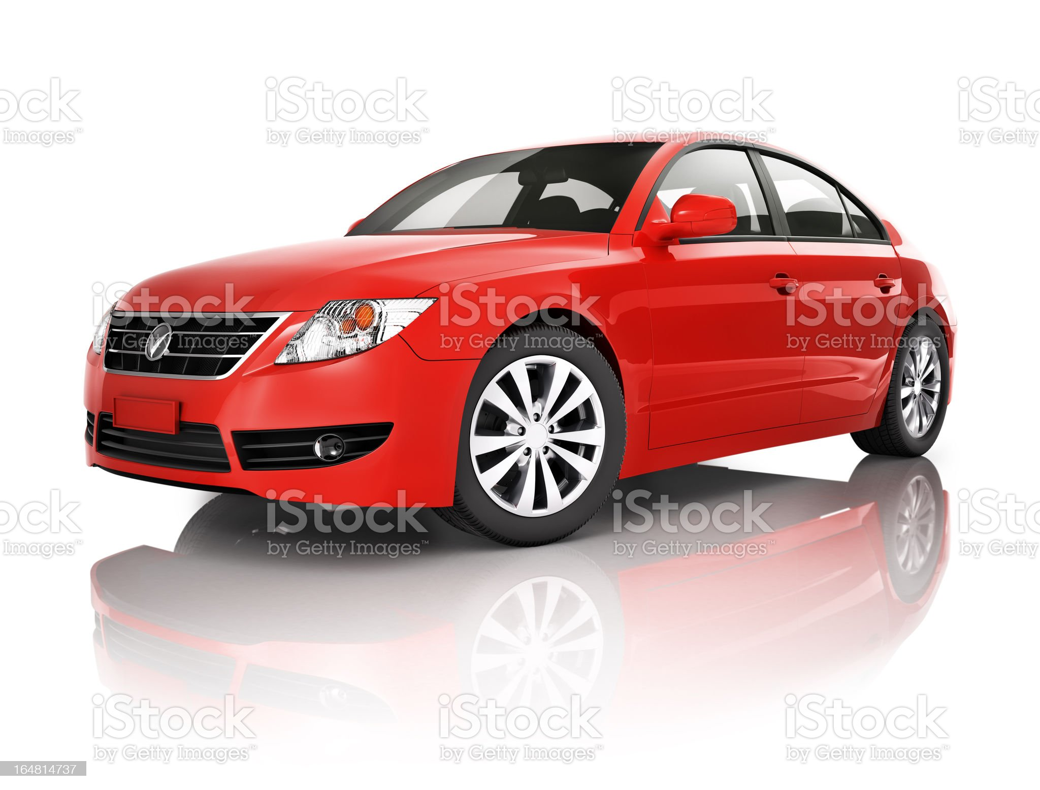 Red elegant sedan car royalty-free stock photo