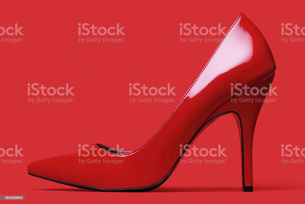Red Elegant Shoe stock photo