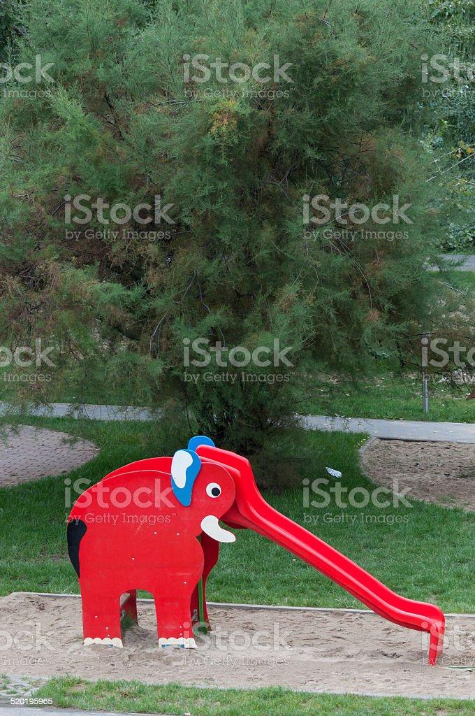 red elephant slide royalty-free stock photo