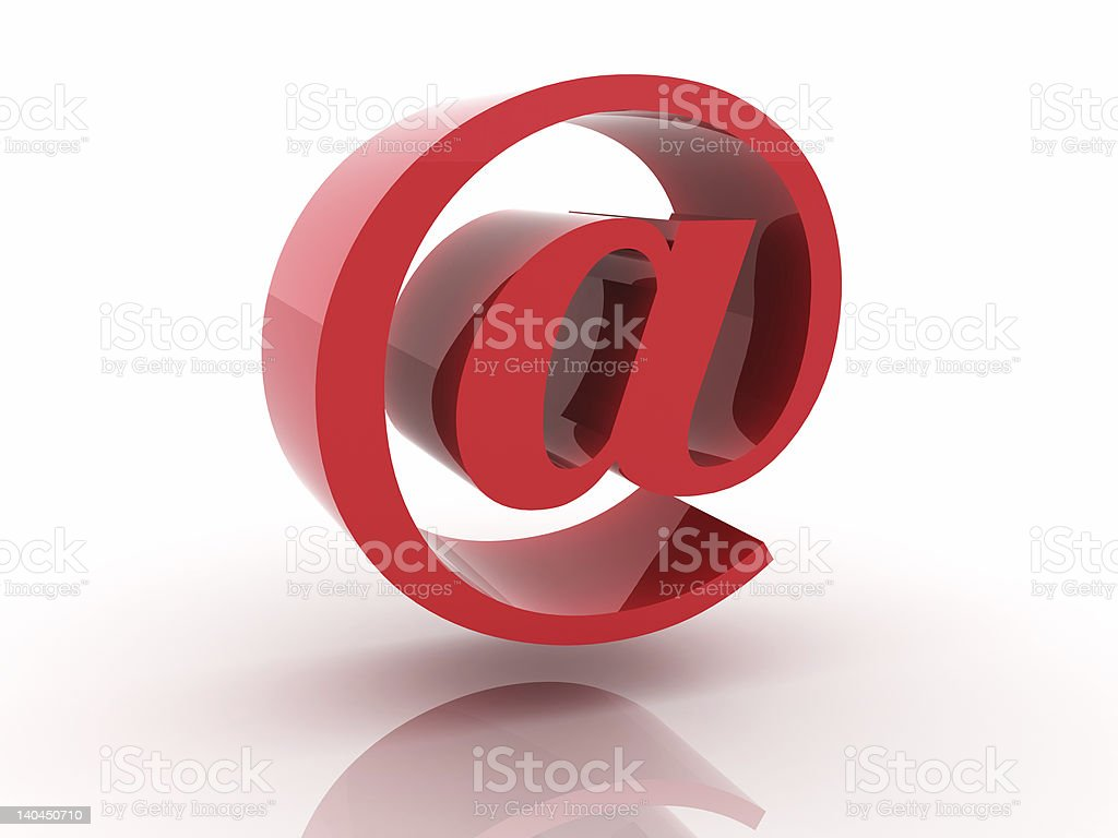 Red Email sign royalty-free stock photo