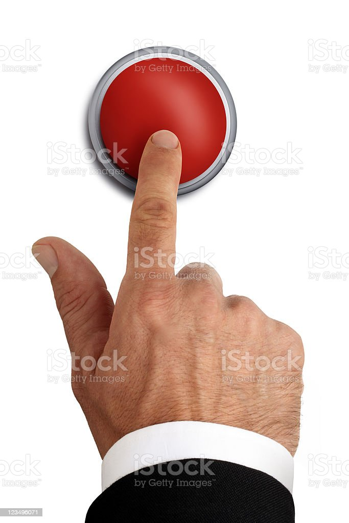 red emergency button royalty-free stock photo
