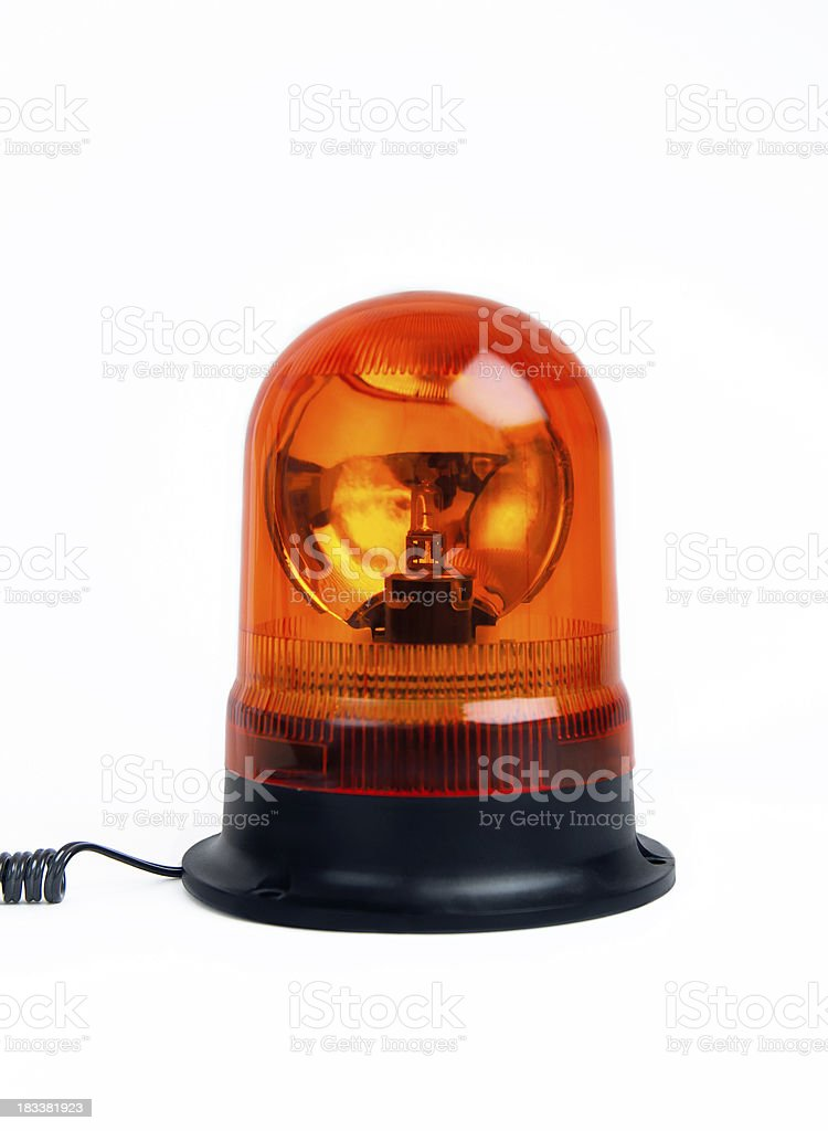 Red Emergency Light stock photo