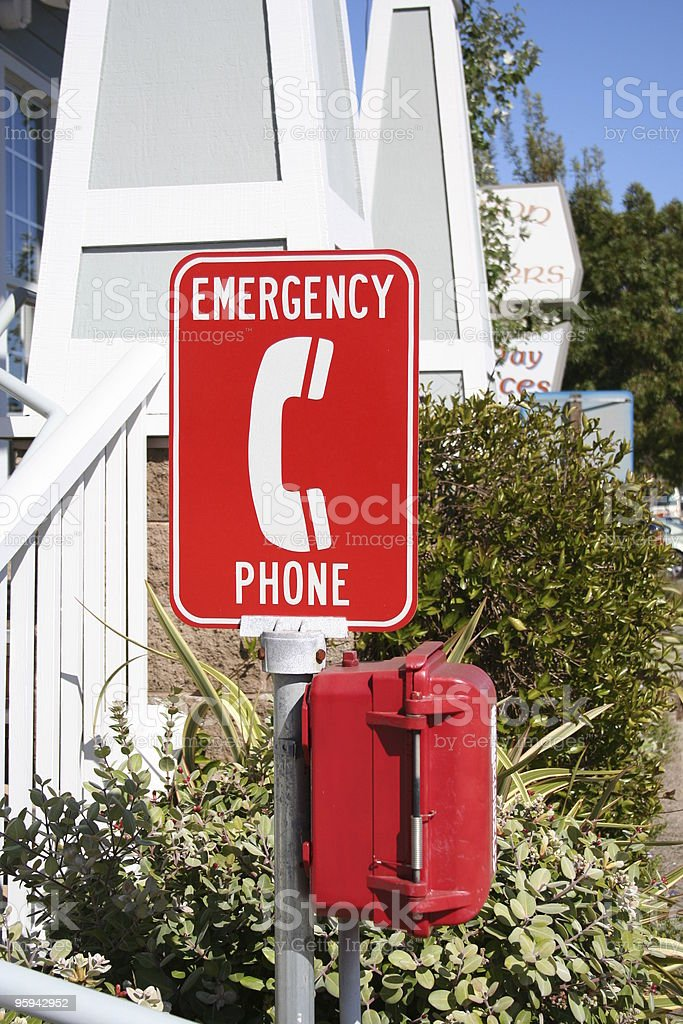 Red Emergency Phone royalty-free stock photo