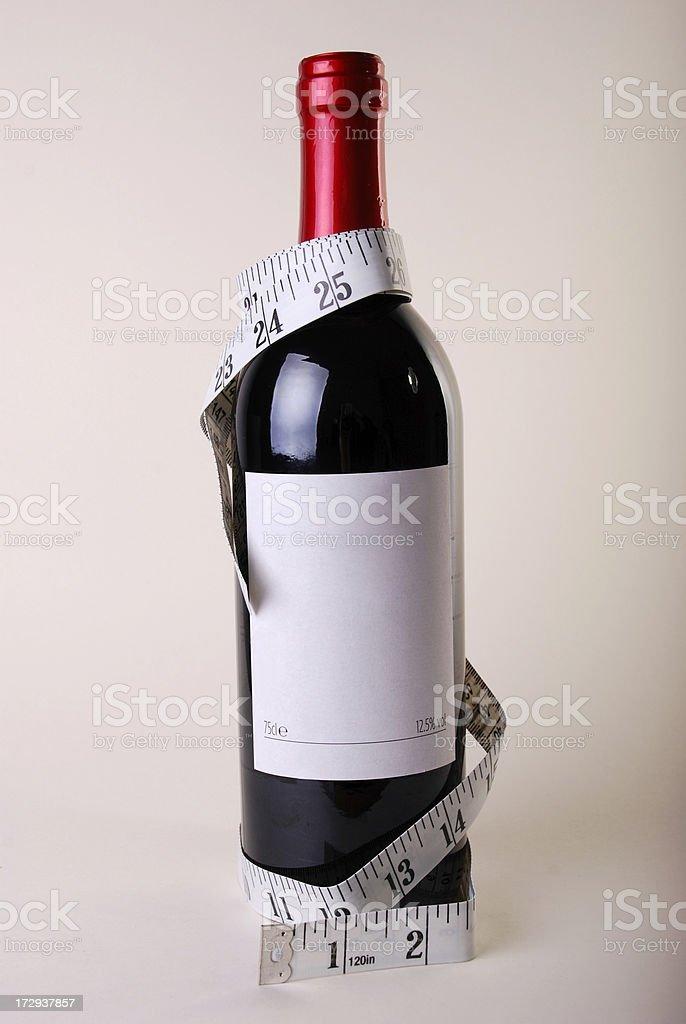 Red empty calories stock photo