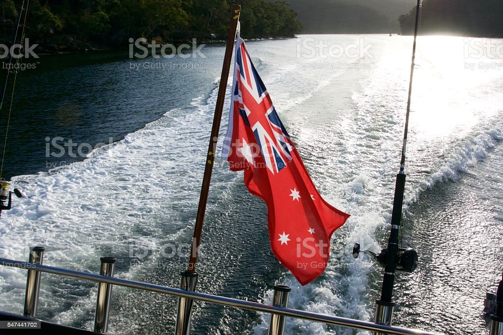 Red Ensign flag  Australia stock photo