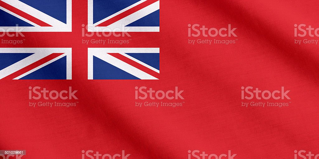 Red ensign waving stock photo