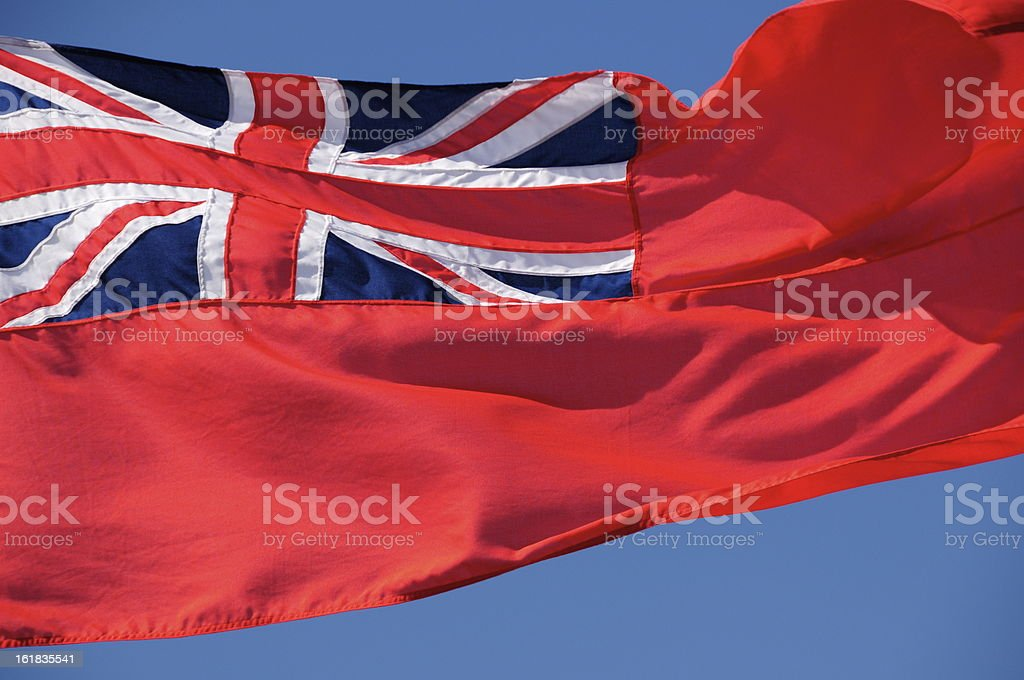 Red Ensign,Jersey. royalty-free stock photo