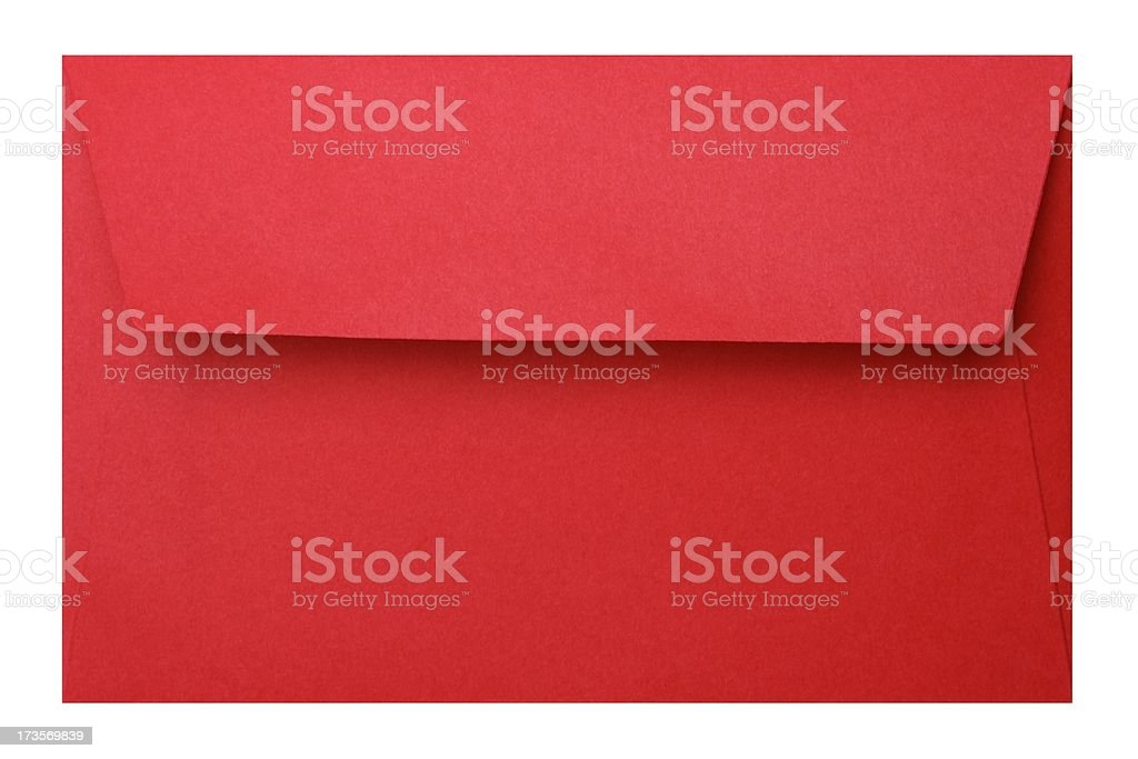 Red Envelope + Clipping path royalty-free stock photo