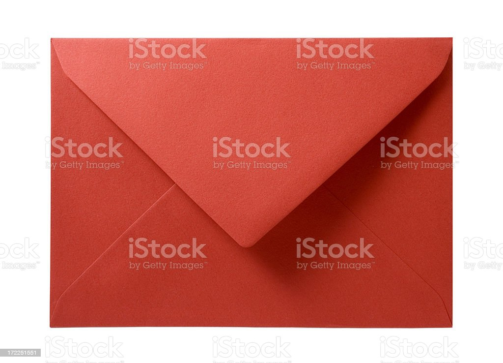 red envelope isolated on white stock photo