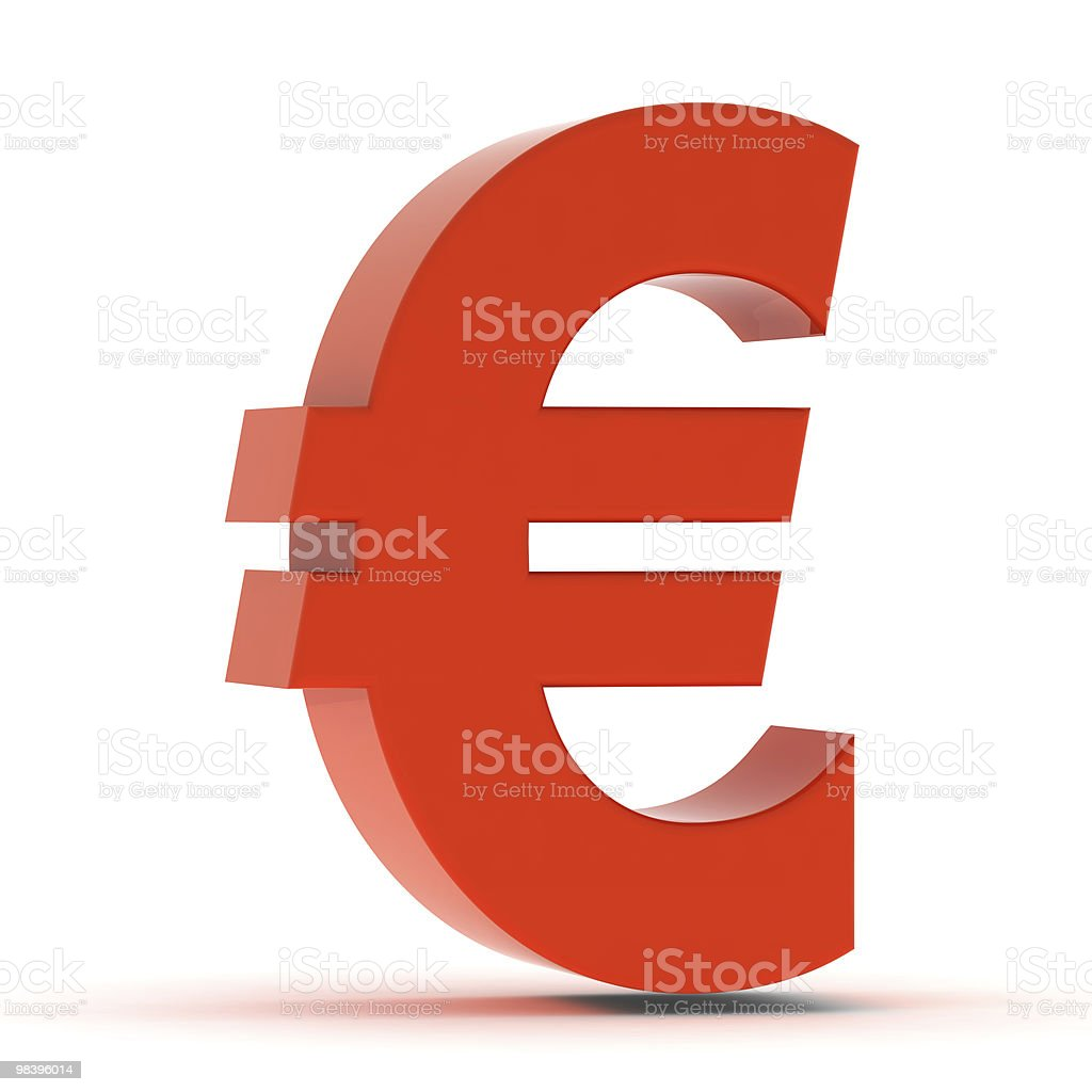 Red Euro Sign royalty-free stock photo