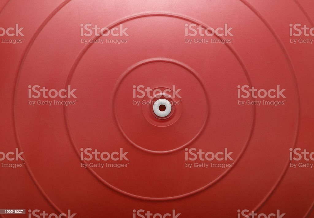 Red exercise ball royalty-free stock photo