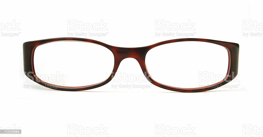 Red eyeglasses royalty-free stock photo