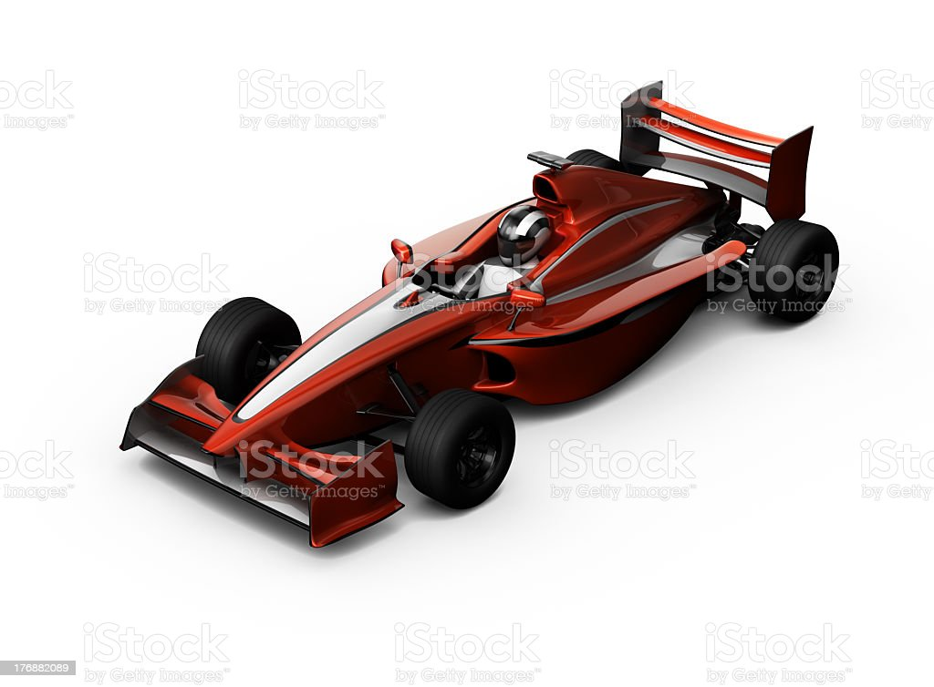 3D red F1 race Car stock photo