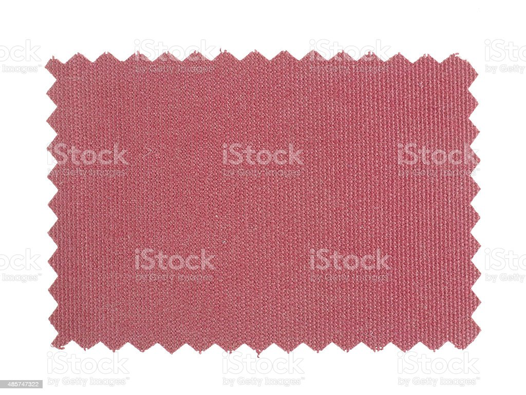 Red Fabric sample stock photo