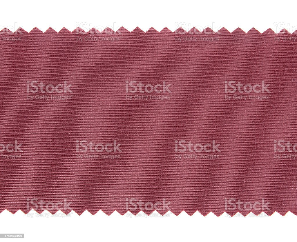 Red fabric sample texture on white Background royalty-free stock photo