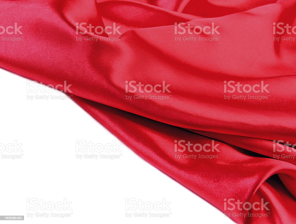 Red fabric silk royalty-free stock photo