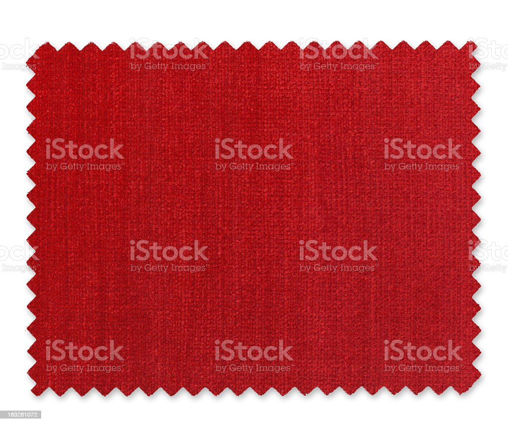 Red Fabric Swatch stock photo