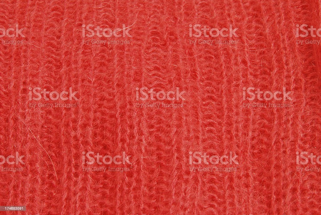 Red Fabric Swatch Textile Close Up royalty-free stock photo