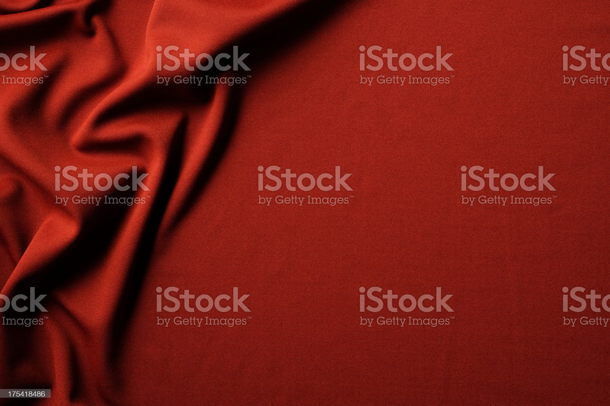 Red fabric texture of wave pattern with copy space royalty-free stock photo