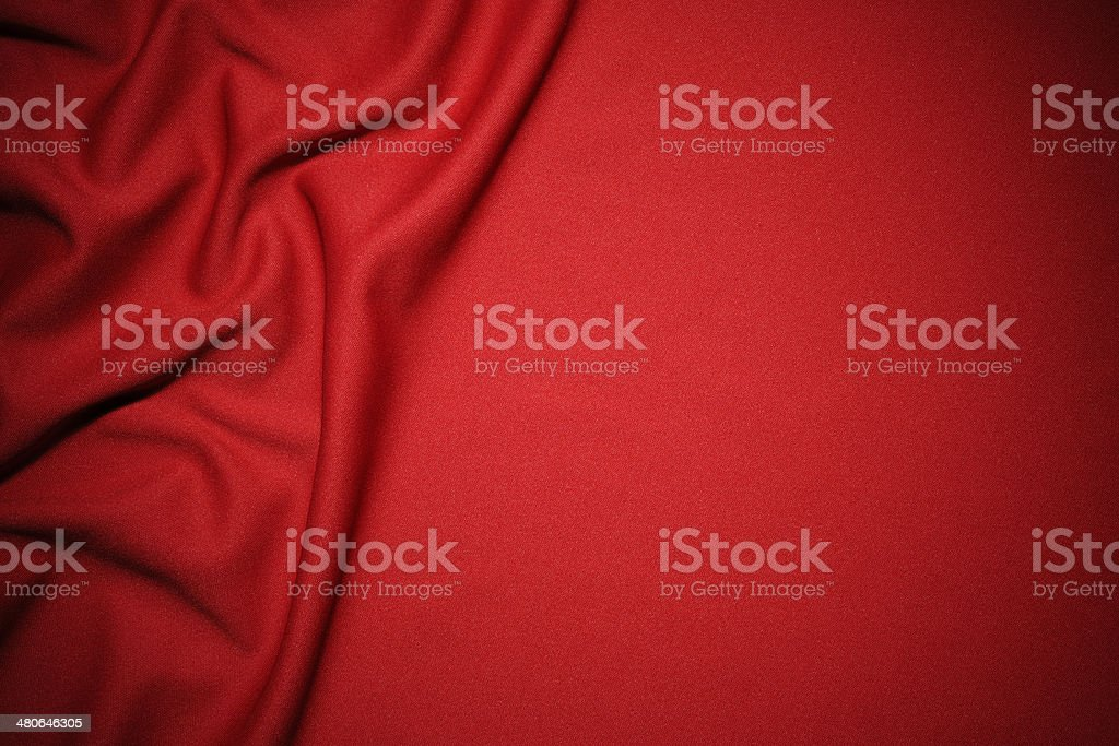 Red fabric wave pattern texture with copy space stock photo
