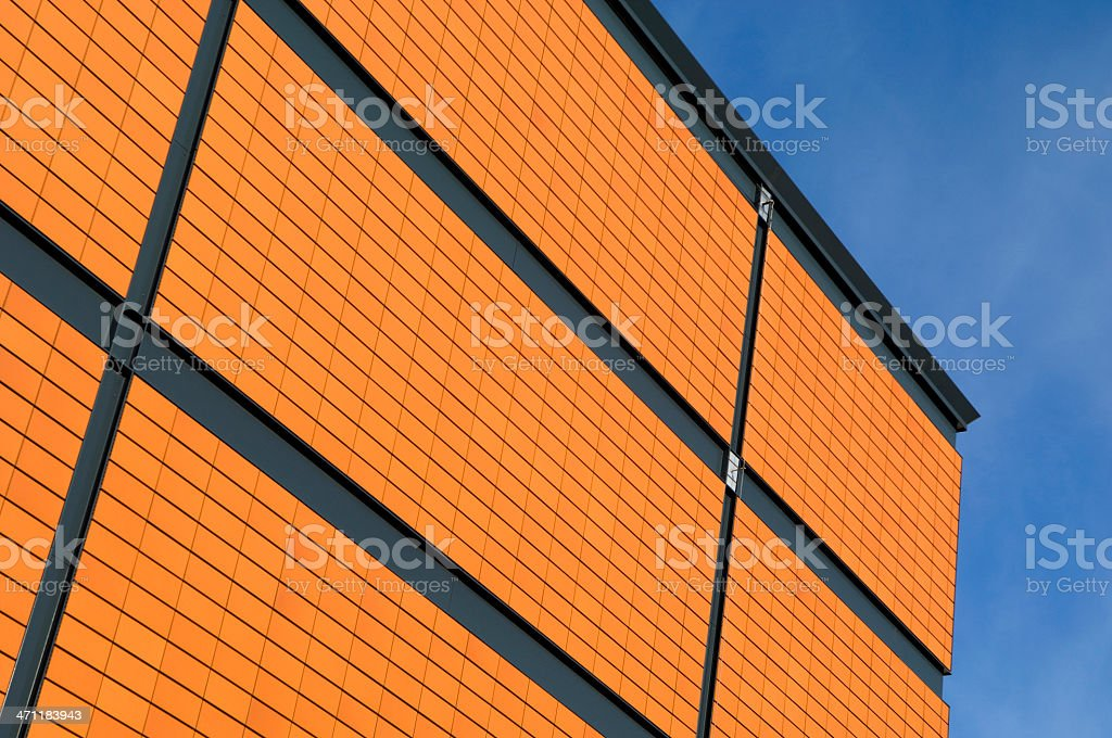 Red facade royalty-free stock photo