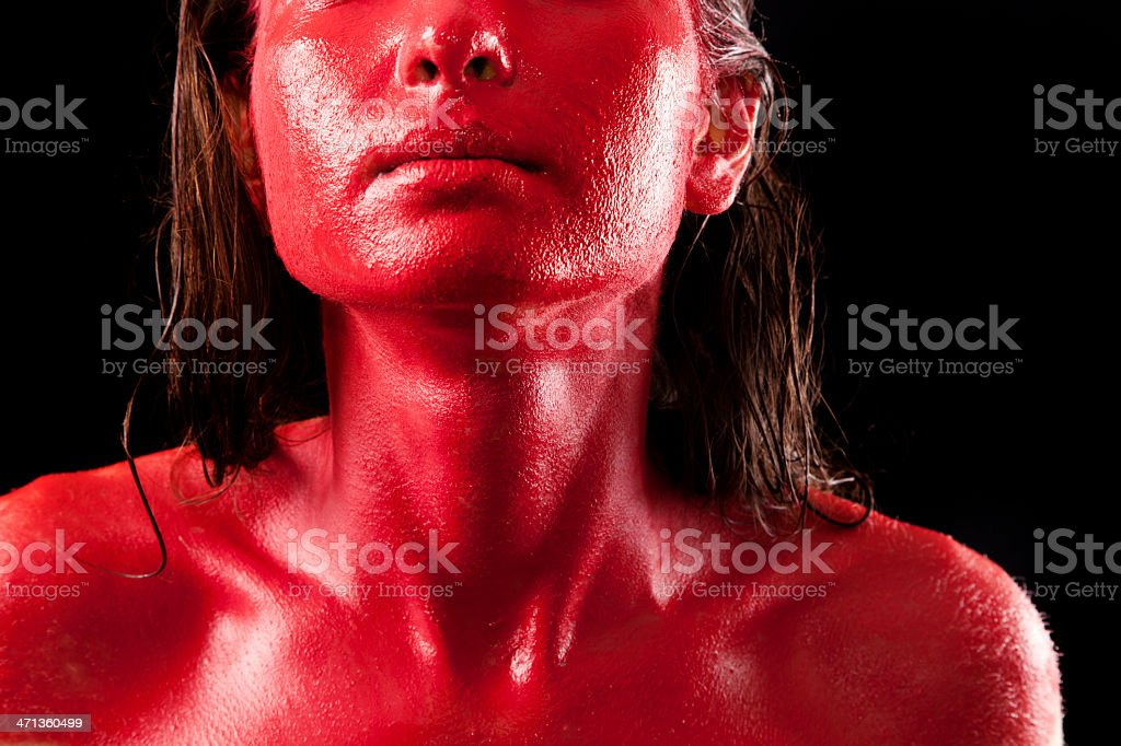 Red Face royalty-free stock photo