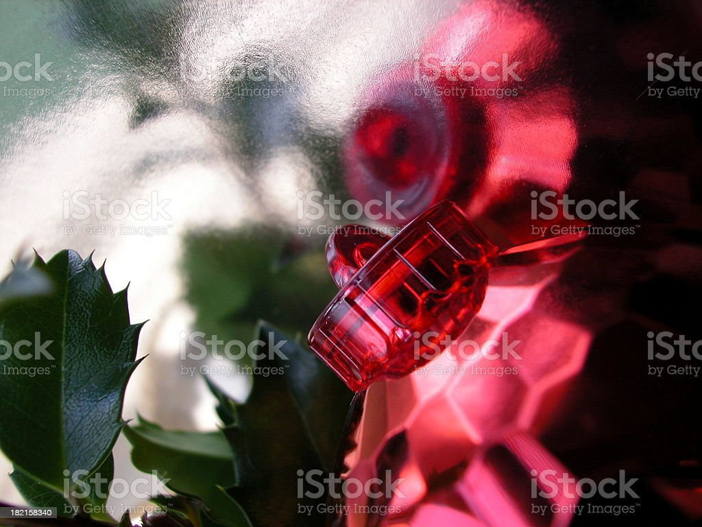 red faceted ball reflection royalty-free stock photo