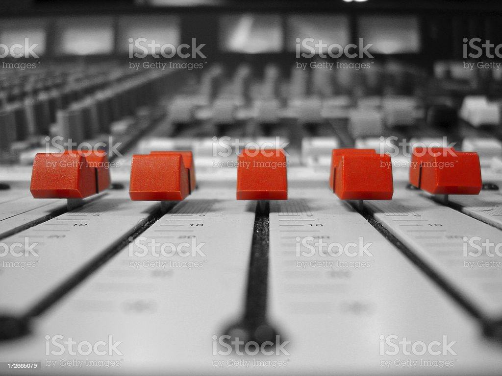 Red Faders Black and White stock photo