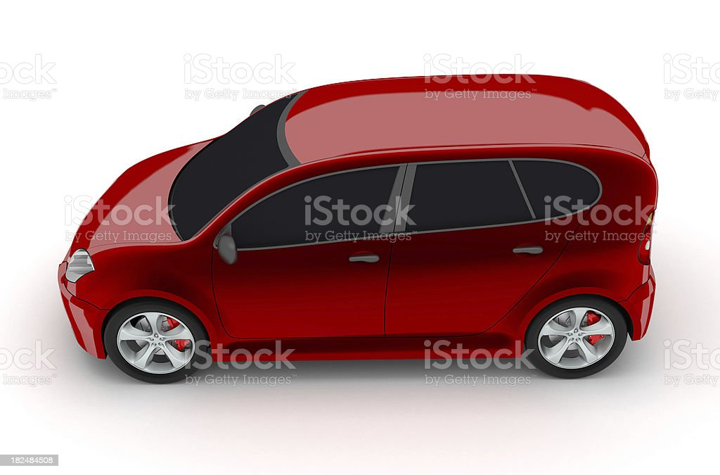 Red family car royalty-free stock photo