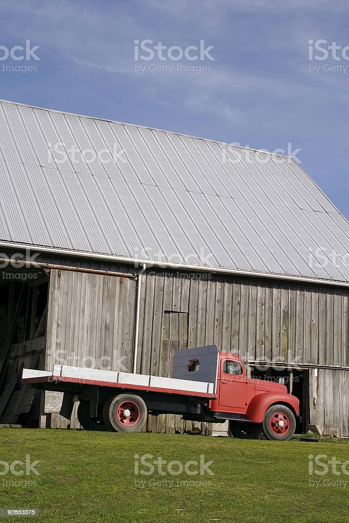 Red Farm Truck - 10 royalty-free stock photo